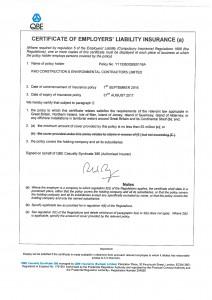 Employers Liability Certificate 2017